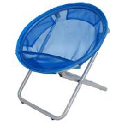 Blue Round Mesh Chair