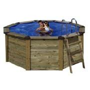 Gre 4.9 Metre Large Wood Covering Swimming Pool