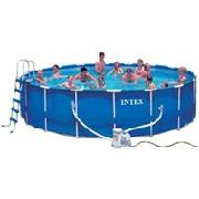 Intex 18ft Metal Frame Pool Set