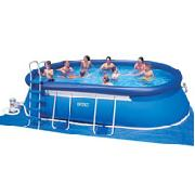 Intex 20ft Oval Metal Frame Pool Set