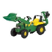 John Deere Tractor with Front and Rear Excavators