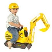 Micro Excavator Ride On with Hard Hat
