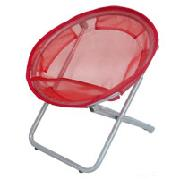 Red Round Mesh Chair