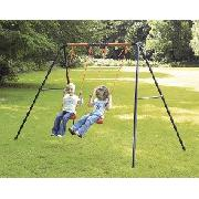 """Gemini"" 2-Swing Garden Set"