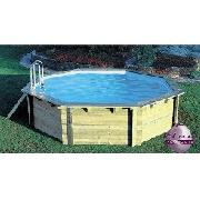 Large Octagonal Wooden Swimming Pool