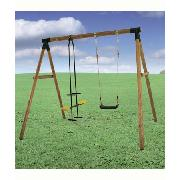 Plum Products Wood Frame Swing and Glider Chair