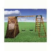 Plum Products Wood Frame Swing Set