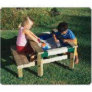 Wooden Table Sandpit