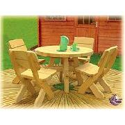Plum Samson Round Picnic Table and 4 Chairs