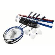 John Jaques 4 Player Badminton Set