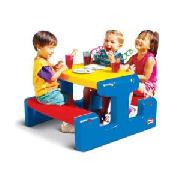 Little Tikes Cozy Cottage with Junior Slide and Picnic Table