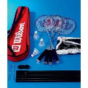 Wilson Badminton 4 Person Tour Kit